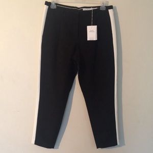 & Other Stories Black Racer Trousers Size 12 NEW